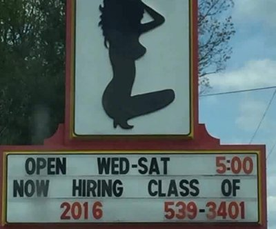 Michigan strip club courts controversy with sign seeking 'Class of 2016' dancers