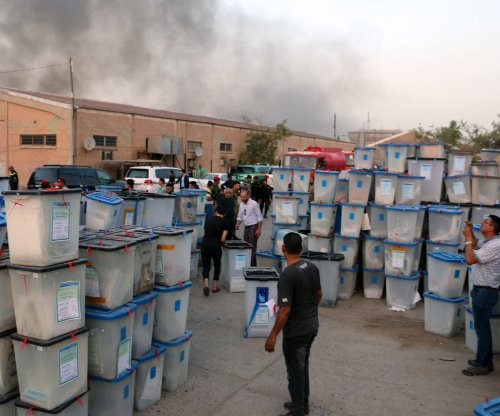 Iraqi leader suspicious of fire at warehouse that stored election ballots