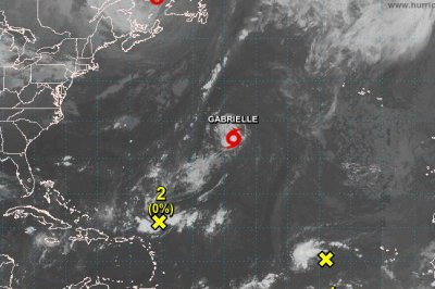 Tropical Storm Gabrielle forecast to intensify a little before weakening