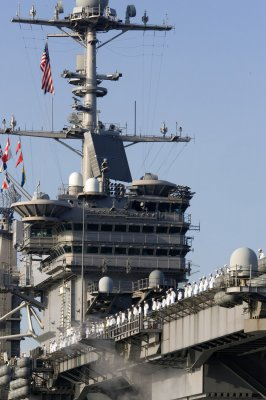 Jet fire injures 10 aboard carrier Stennis