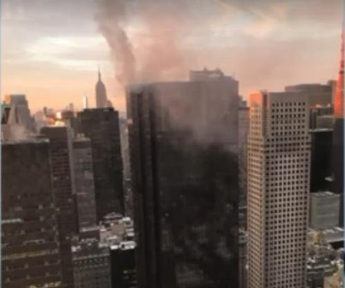 Fire on New York City's Trump Tower roof injures 2