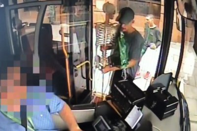 Police release security video of unusual skeleton theft