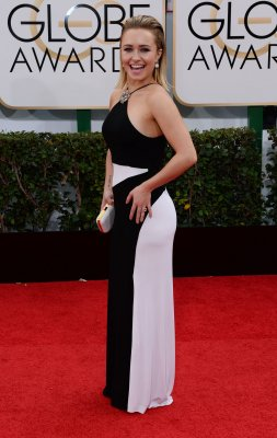 Hayden Panettiere buys Golden Globe dress, gets flowers from Tom Ford