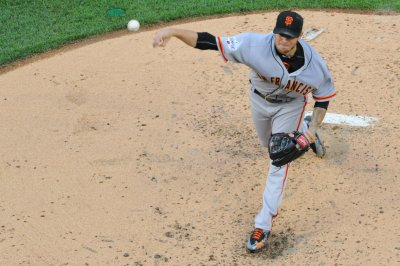 San Francisco Giants' Peavy, three relievers shut out Milwaukee Brewers