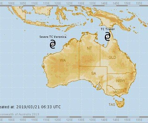 Mass evacuation underway as northern Australia braces for 2 cyclones