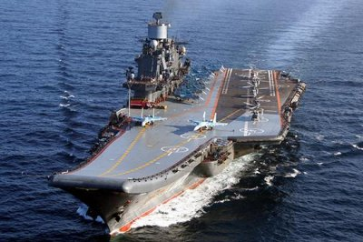 Fire injures several aboard Russia's only aircraft carrier