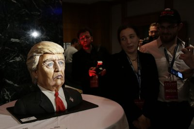 Trump's Manhattan election party features cake bust, pricey bar
