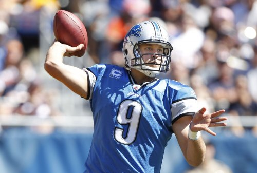 Injured Lions QB Stafford at practice