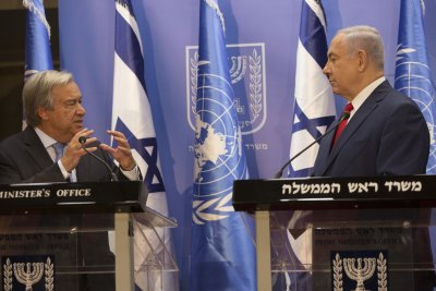 Netanyahu airs grievances to U.N. chief during visit