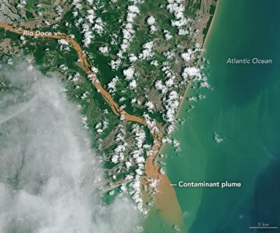 NASA satellites see contaminated water flowing into Atlantic