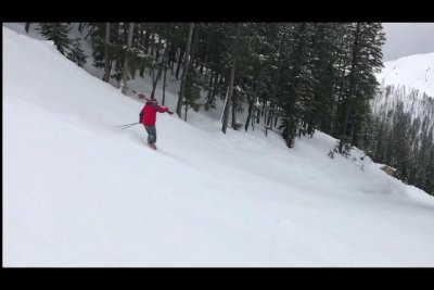 Man skis more than a mile downhill on just his boots