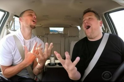Watch: Stephen Curry belts out 'Moana,' 'Frozen' songs with James Corden