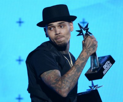 Chris Brown gives glimpse of son Aeko Catori