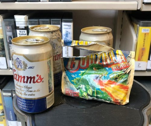 30-year-old stash of beer and gum found in library's mystery section