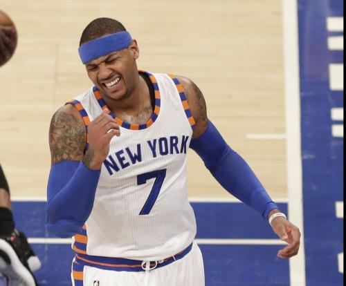 New York Knicks' Carmelo Anthony dismisses trade rumors