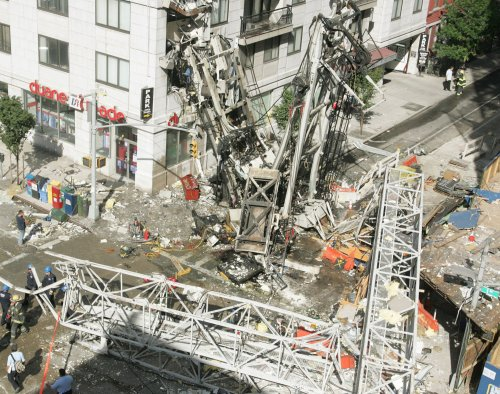Two die in NYC crane collapse