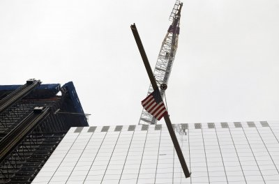 World Trade Center building tops out