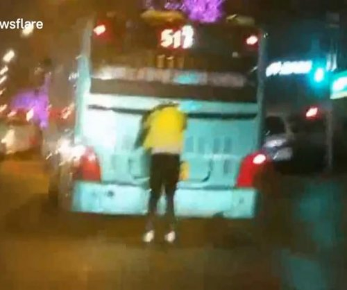 Fare dodger uses roller skates to get free bus ride