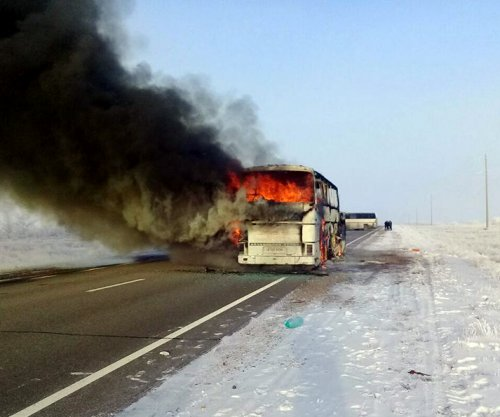 52 killed in bus fire in Kazakhstan