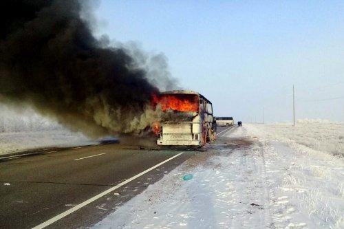 52 killed in bus fire in Kazakhstan