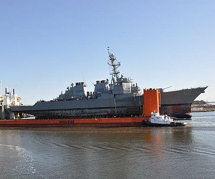 USS Fitzgerald arrives in Mississippi for repairs following 2017 collision