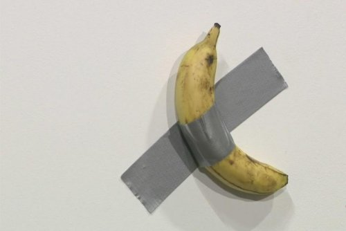 Banana duct taped to wall sells for $120,000 at Florida gallery