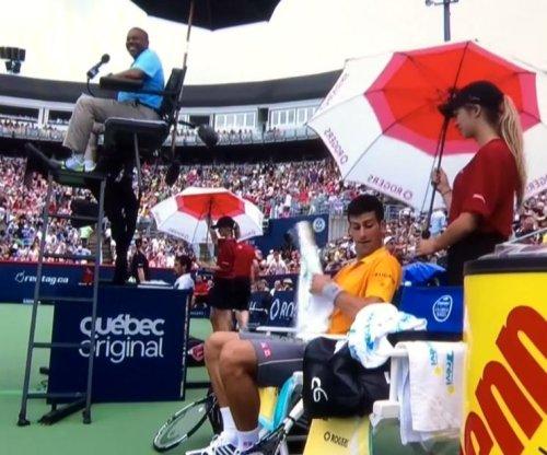 Novak Djokovic complains of marijuana smell during match