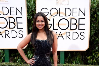 Stars arriving at the Golden Globe Awards ceremony