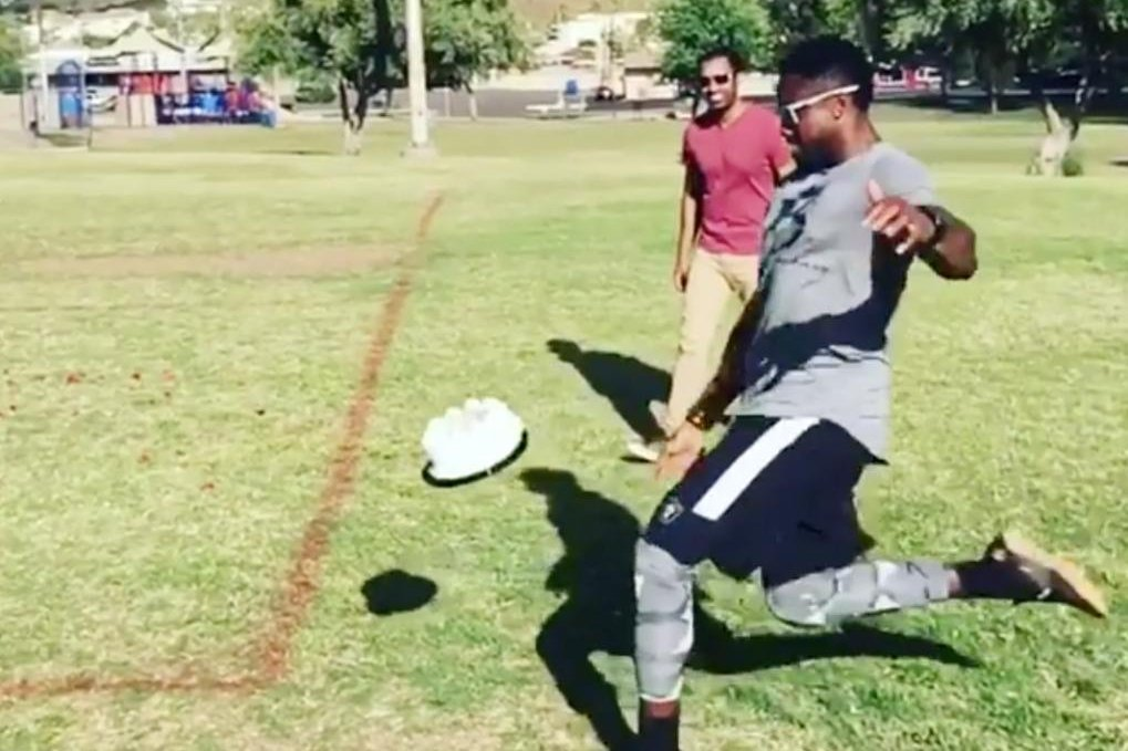 Watch Oakland Raiders Marquette King Punts Derek Carrs Birthday