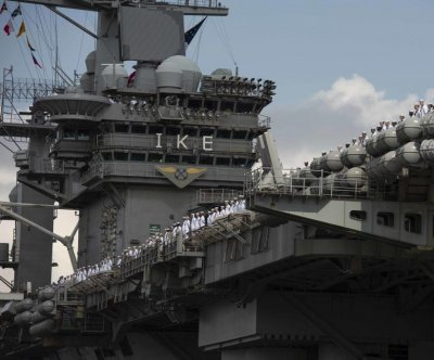 Eisenhower carrier returns from deployment after 7 months