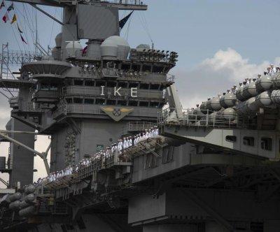 Eisenhower carrier returns from deployment after 7 months