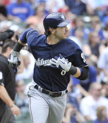 Beltre, Braun named players of the month