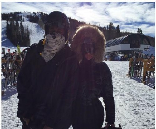 Kim Kardashian and Kanye West share photos of their ski trip