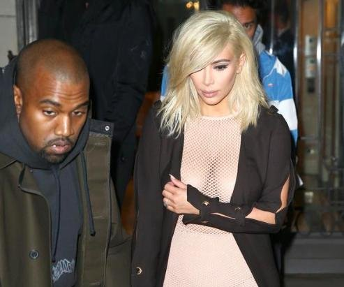 Kim Kardashian wears metallic fringe, netted top for Paris Fashion Week