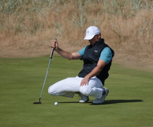 British Open: Jordan Spieth pulls off unlikely shot for second straight day