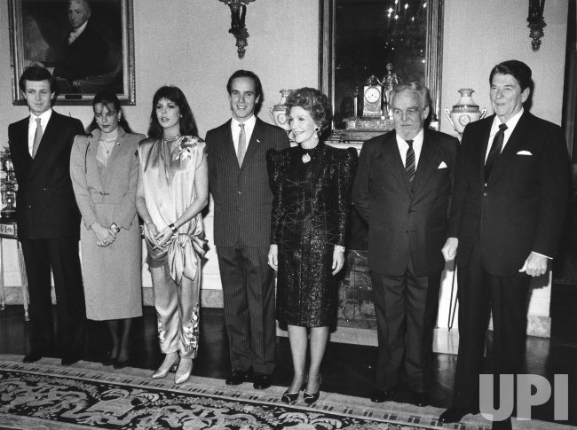 President and Mrs. Reagan hosts Monaco Royal family at White House