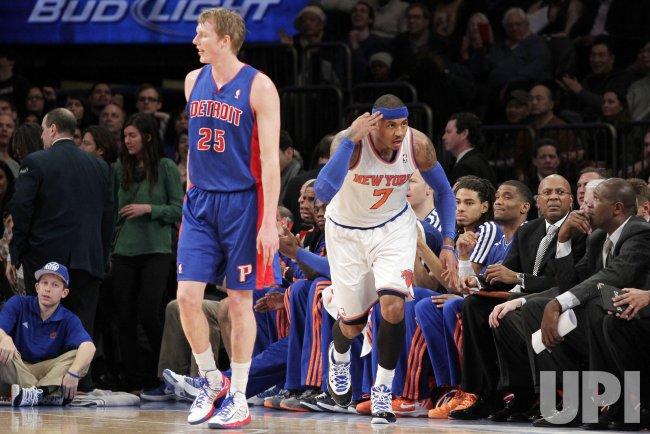 Knicks vs Pistons at Madison Square Garden