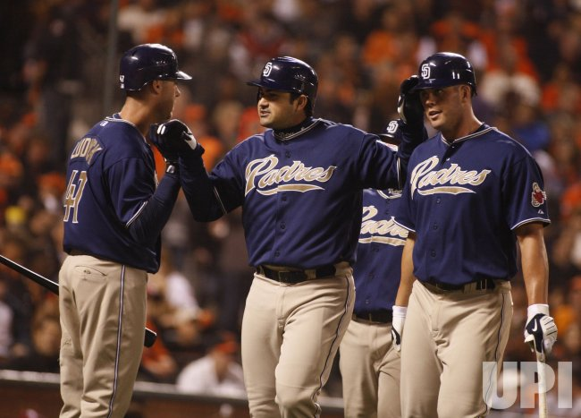 Padres Adrian Gonzalez hits three run blast in San Francisco