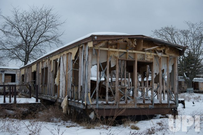 Remnants of the Sunset Village mobile home park sit in ruins ... on