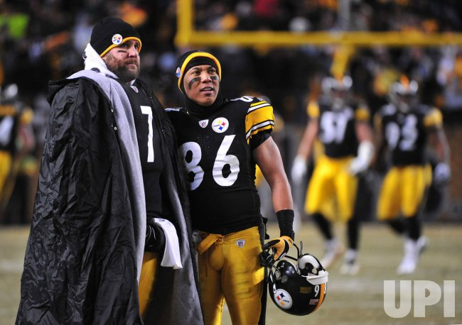 Steelers quarterback Ben Roethlisberger and wide receiver Heinz Ward in Pittsburgh