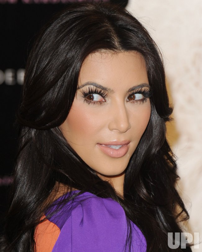 Kim Kardashian attends her fragrance launch in London