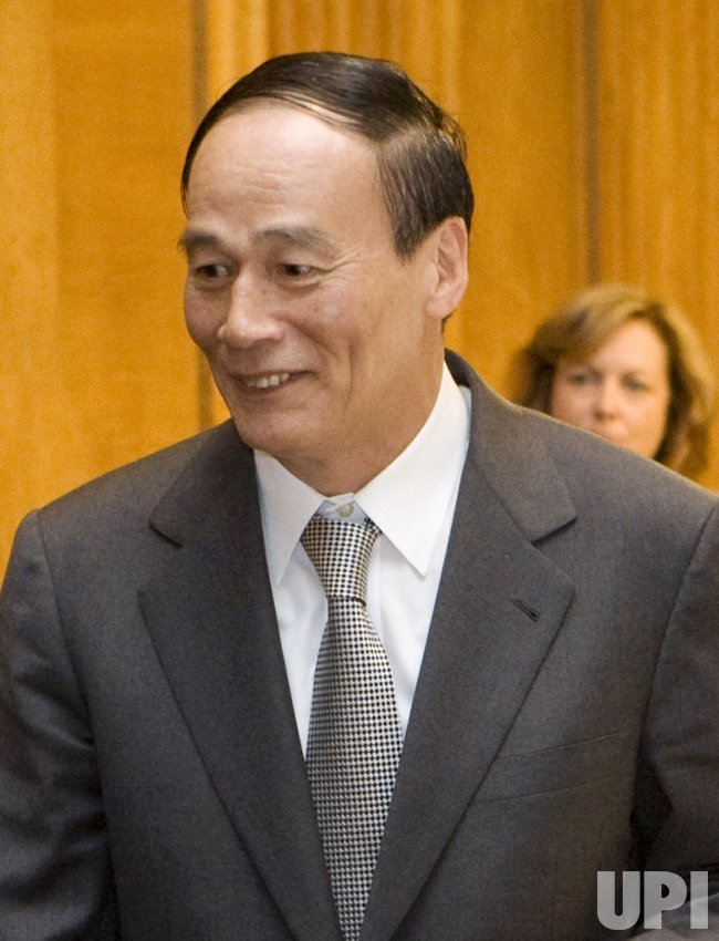 Chinese Vice Premier Qishan meets with Senate Finance Commette in Washington