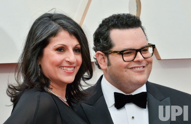 Ida Darvish and Josh Gad arrive for the 92nd annual Academy Awards in Los Angeles