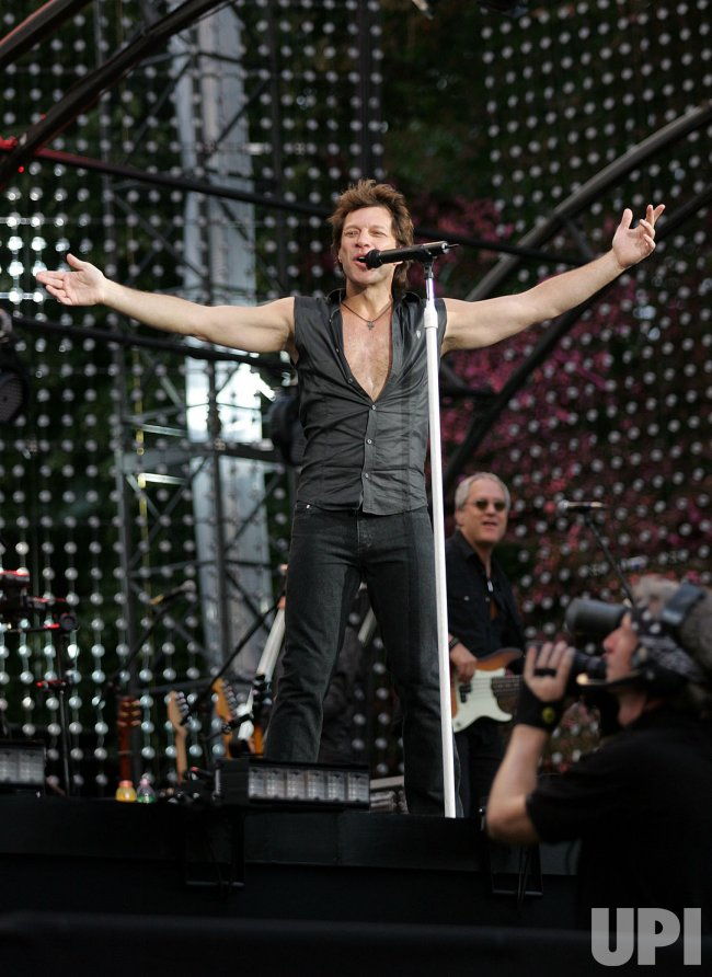 Bon Jovi All Star concert in Central Park in New York