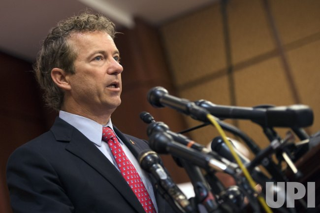 Rand Paul speaks on the Transparency for the Families of 9/11 Victims and Survivors Act of 2015 in Washington, D.C.