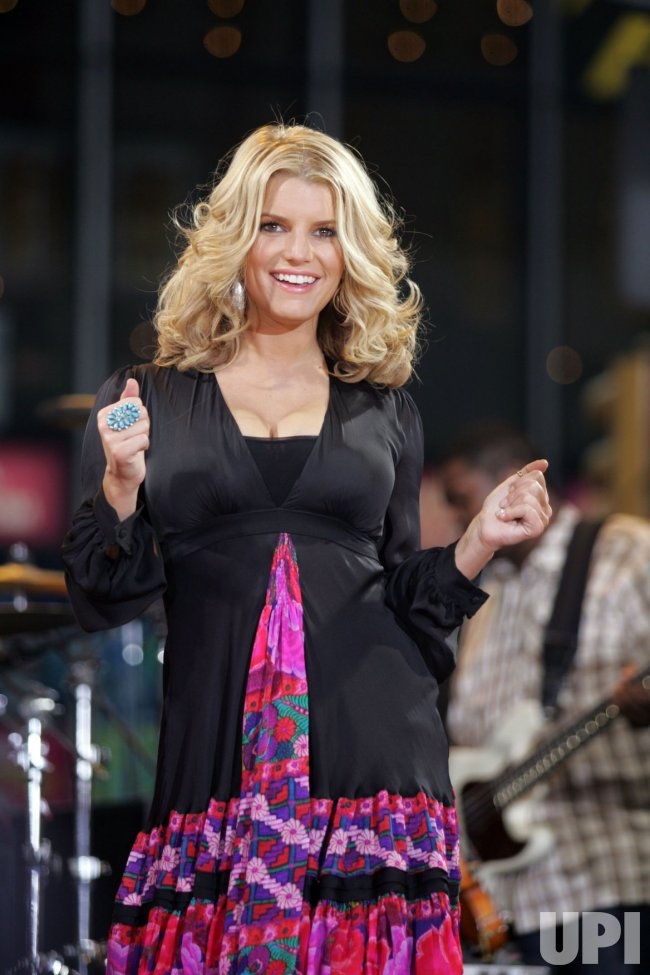Jessica Simpson performs on Good Morning America in New York