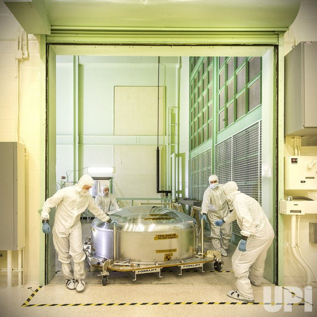 Performing tests on NASA's Webb Telescope in CIAF room