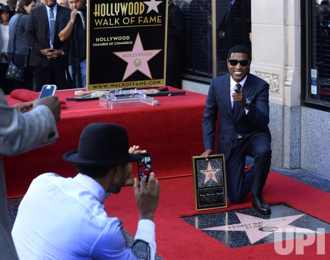 "Kenny ""Babyface"" Edmonds receives star on Hollywood Walk of Fame in Los Angeles"