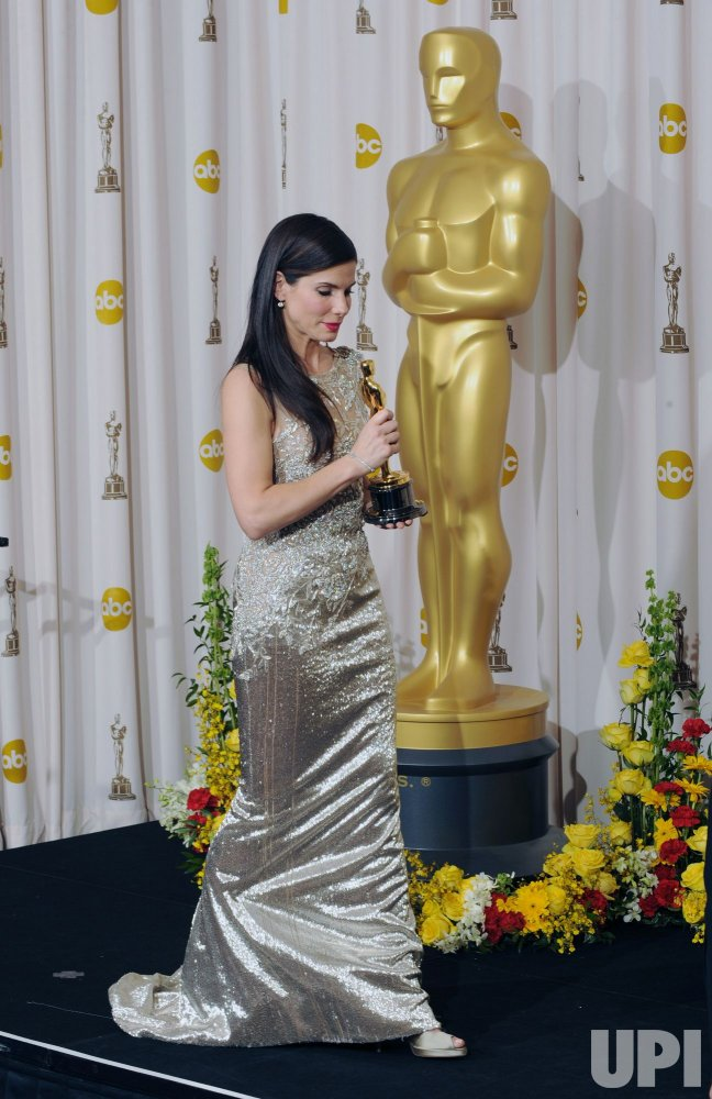 Sandra Bullock wins Best Actress at the Academy Awards in Hollywood