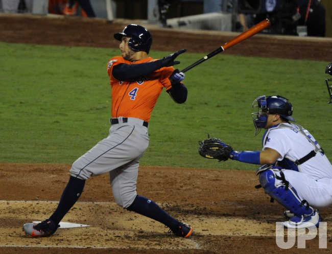 Houston Astros George Springer homers in the World Series